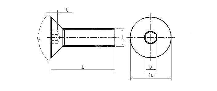 ...指公称直径d-螺距P*长度L)长度含头部高度-10.9级内六角沉头螺钉...
