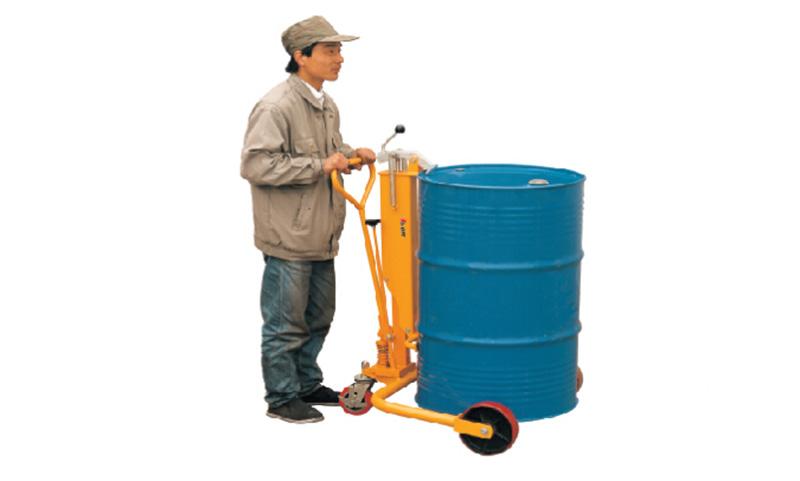 液压油桶搬运车,叼扣式 250kg (钢桶)
