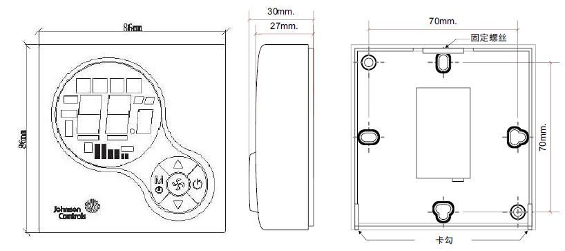 风机盘管液晶温控器,江森,t6634-te21-9js0