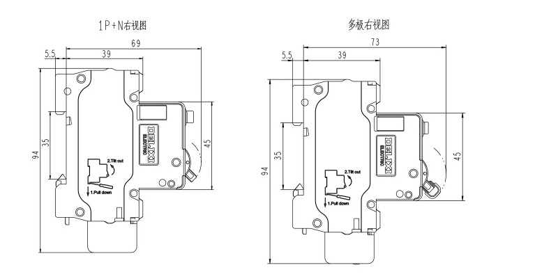 德力西 微型漏电保护断路器,dz47sle 2p c6a,dz47slen