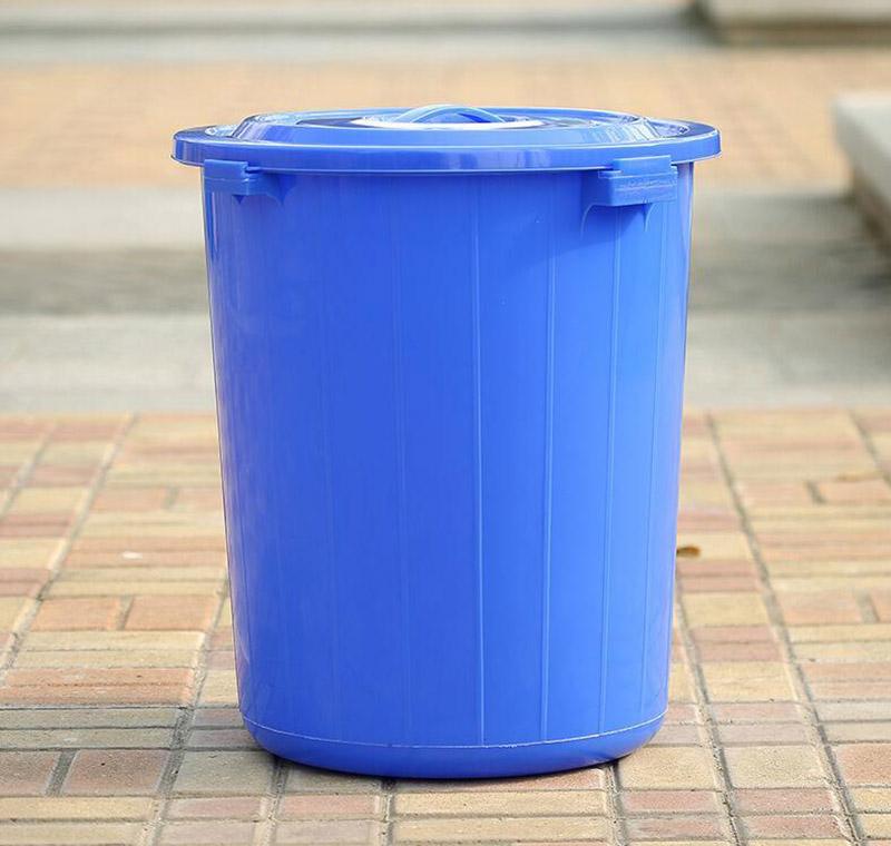 圆形塑料垃圾桶,120l【价格
