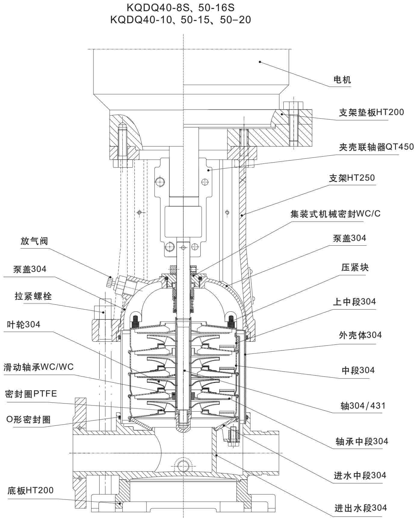 凯泉潜水泵控制箱电路图