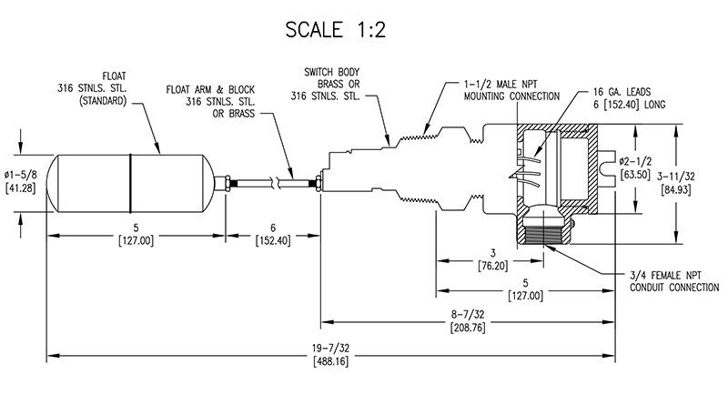 浮子控制水泵电路图