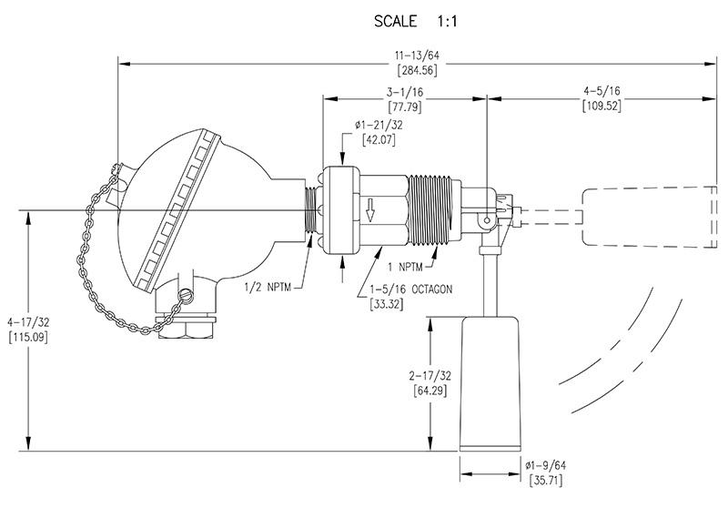 德威尔/dwyer l8系列浮球液位开关,全天候防护系列
