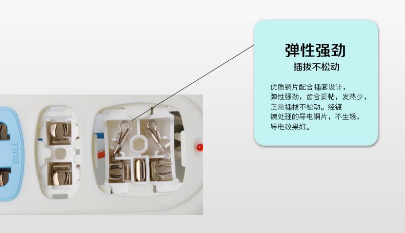 公牛接线板,基础系列 gn-314 无线 3位 分控开关