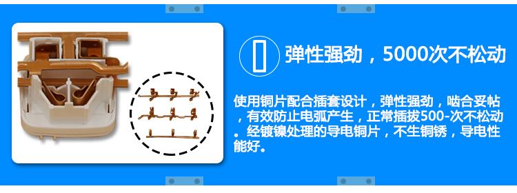 电工 开关插座,接线板 接线板 公牛接线板,基础系列 gn-406d 5米 3位
