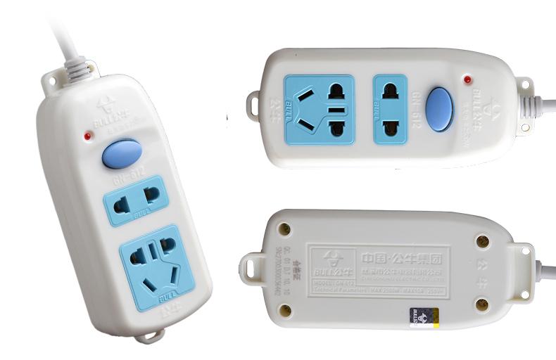 电工 开关插座,接线板 接线板 公牛接线板,基础系列 gn-612 1.