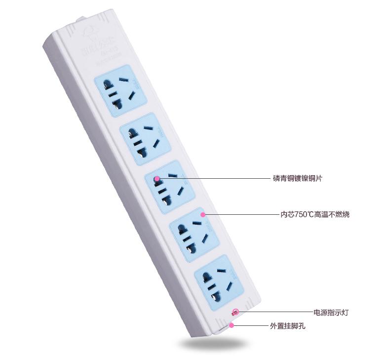 首页 工业品 电工 接线板 >公牛接线板,基础系列 gn-415 无线 5位