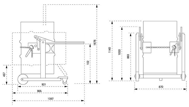 抱箍式360kg(塑料桶)