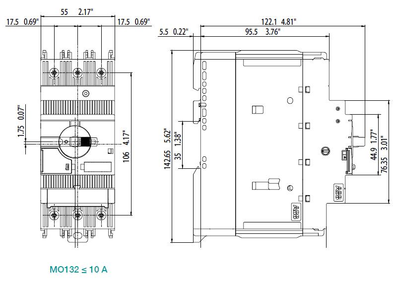abb 电动机保护用断路器,ms132-12