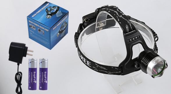 神火led充电头灯 hl31,含2节18650锂电池含充电器