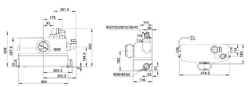 最简的污水泵自动控制电路图
