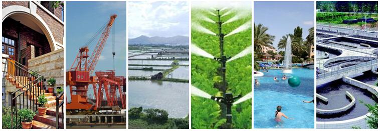 适用于家庭生活供水,自动浇灌系统,小型空调系统或配套设施等.