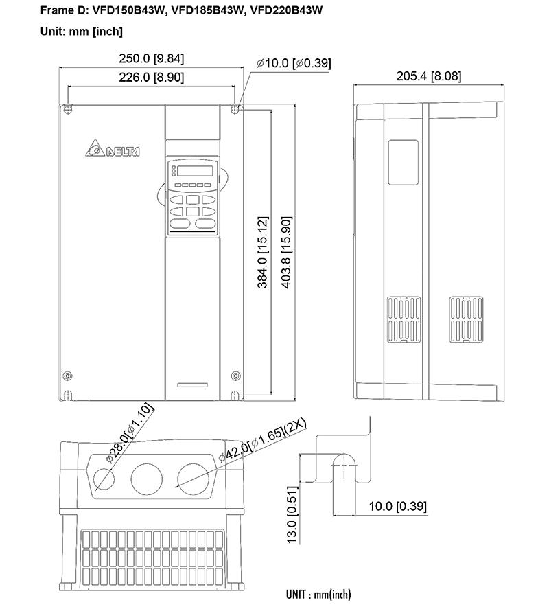 台达/delta vfd185b43w变频器