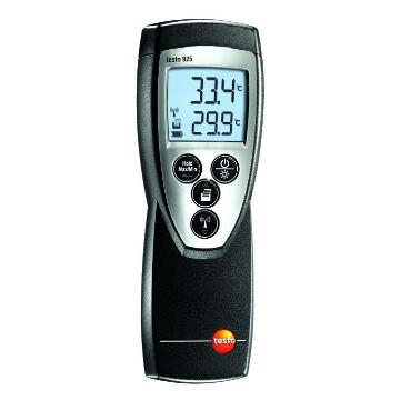 德圖/Testo 單通道溫度儀,可另配K型熱電偶探頭,testo 925,訂貨號:0560 9250