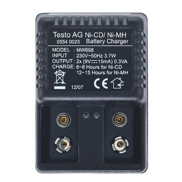 德图/Testo 充电器, 9V充电电池充电器 适用于0515 0025,订货号:0554 0025