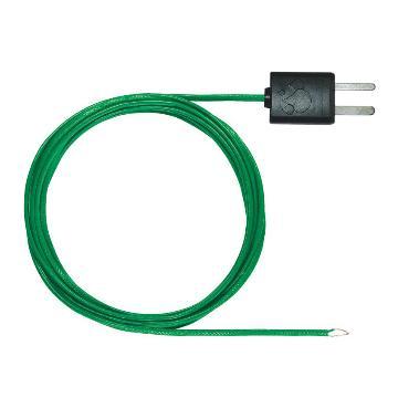 德图/Testo 柔性K型热电偶,带T/C适配器, 特氟龙材质,-50~+250℃ 1500mm,订货号:0602 0646