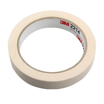 3M 单面平滑美纹纸常温遮蔽胶带, 白色 宽度19mm,型号:2214-19mm