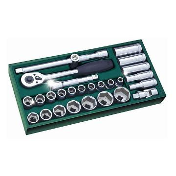 世达套筒套装,12.5mm系列公制27件套,09903