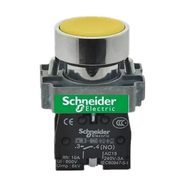 施耐德Schneider XB2 平头按钮(ZB2BZ101C+ZB2BA5C),XB2BA51C