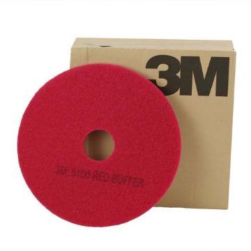 3M磨光垫,5100红色,17寸,5片/盒 单位:盒