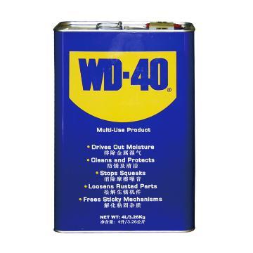武迪 WD-40,除濕防銹 潤滑劑,4L/桶
