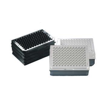 Nunc F96 MicroWellTM微孔板,聚苯乙烯,外部尺寸128*86mm,颜色,黑色,数量每包/每箱,1/50,表面,细胞培养