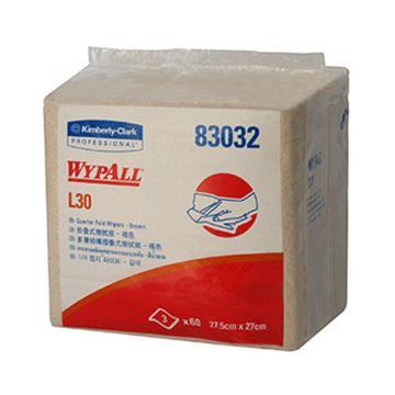 金佰利擦拭纸,劲试工业擦拭纸83032,L30折叠式 60张/包 24包/箱 单位:箱