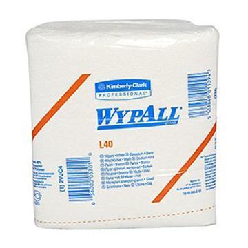 金佰利工业擦拭纸,WYPALL L40 折叠式05701,56张/包 18包/箱 单位:箱