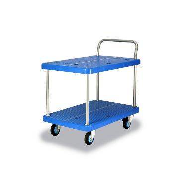 微静音双层单扶手车板式手推车,轮子类型:铁支架轮,承重(kg):300KG