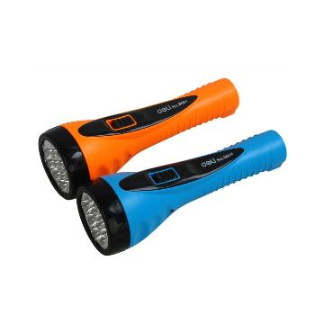 得力LED充电式手电筒,颜色随机  3664