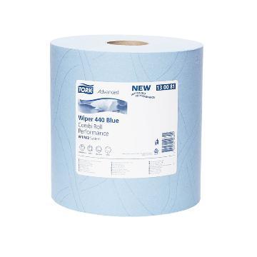 多康(TORK) 高级工业重任务擦拭纸,蓝色 340*235mm 350张 130081,119米/卷 2卷/袋