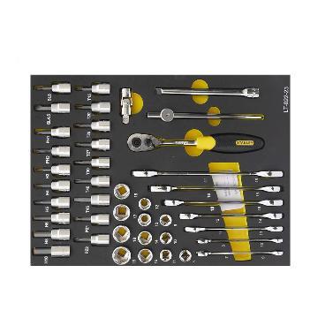 史丹利工具托,42件套10mm系列公制工具托,LT-022-23