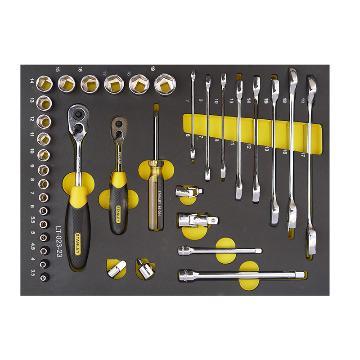 史丹利工具托,36件套6.3,10mm系列公制工具托,LT-023-23