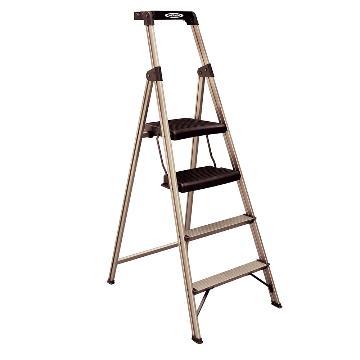 穩耐 寬踏板家用梯,踏臺數:4 額定載荷(KG):100 工作高度(米):0.95,234T-3CN