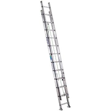 稳耐 D形踏棍2节延伸梯,踏台数:24 额定载荷(KG):102 工作高度(米):5.5,D1224-2