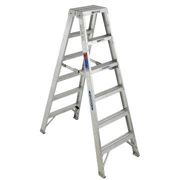 稳耐 双侧人字梯,踏台数:6 额定载荷(KG):136 工作高度(米):1.2,T376CN