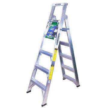 稳耐 铝合金两用梯,踏台数:6,额定载荷(KG):120,工作高度(米):1.2,DP366CN