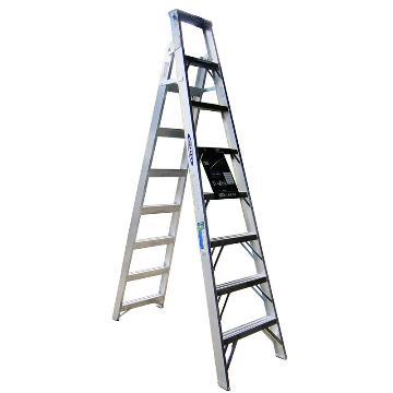 稳耐 铝合金两用梯,踏台数:8,额定载荷(KG):120,工作高度(米):1.8,DP368CN