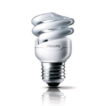 飞利浦 Tornado T2 螺旋形节能灯,8W CDL 白光 E27,单位:个