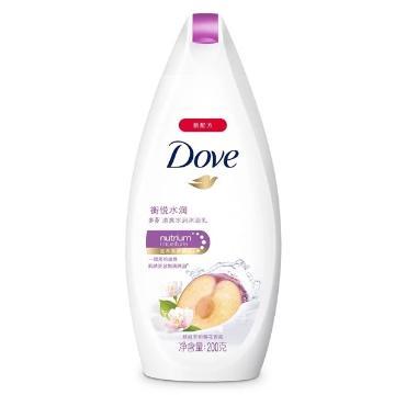多芬(DOVE)衡悅水潤沐浴乳,200ml 單位:瓶