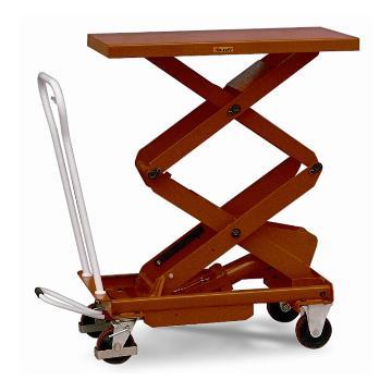 虎力 双剪重型脚踏式液压升降平台车,载重(kg):300,起升范围(mm):435~1585