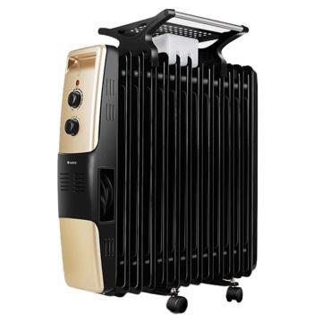 电热油汀,格力,NDY07-26(黑+金),220v,2600w,13片加热片,倾倒自动断电,3档功率可调,恒温