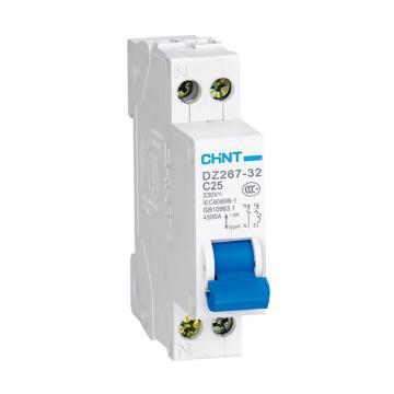 正泰CHNT 微型断路器 DZ267-32 1P+N 6A C型 紧凑型18mm