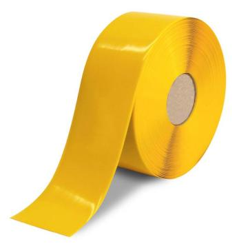安赛瑞 重载型划线胶带(黄),高强度PVC材料,自带背胶,黄色,厚1mm,50mm×30m,15001