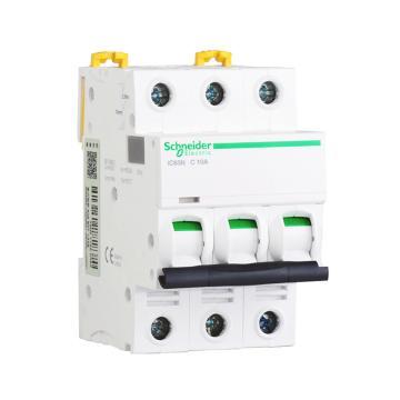 施耐德 微型断路器,iC65N 3P C4A,A9F18304