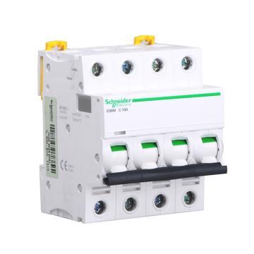 施耐德 微型断路器,iC65H 4P D10A,A9F29410