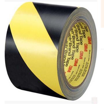 3M 5702黄黑相间地面警示胶带,50mmx33m