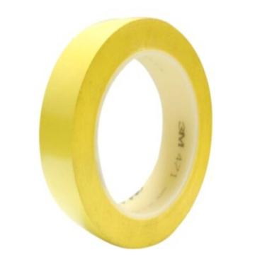 3M 聚氯乙烯胶带,20mm×33m,黄色,471