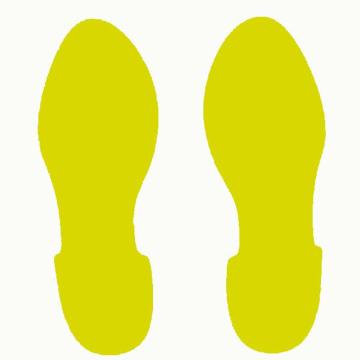 安赛瑞 地贴警示标识 脚印,28cm长×10cm宽